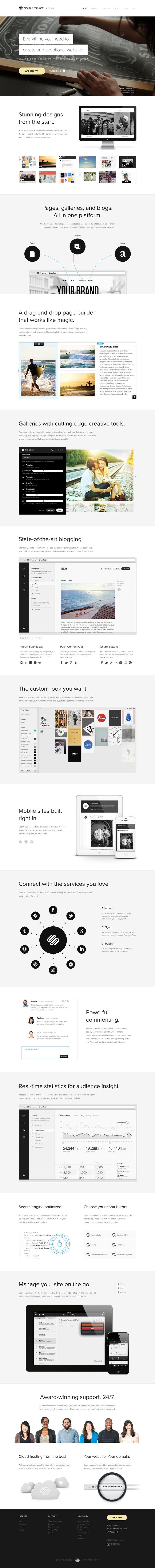 Unique Web Design, SquareSpace #Web #Design