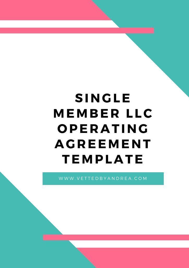 Single Member Member Managed Llc Operating Agreement