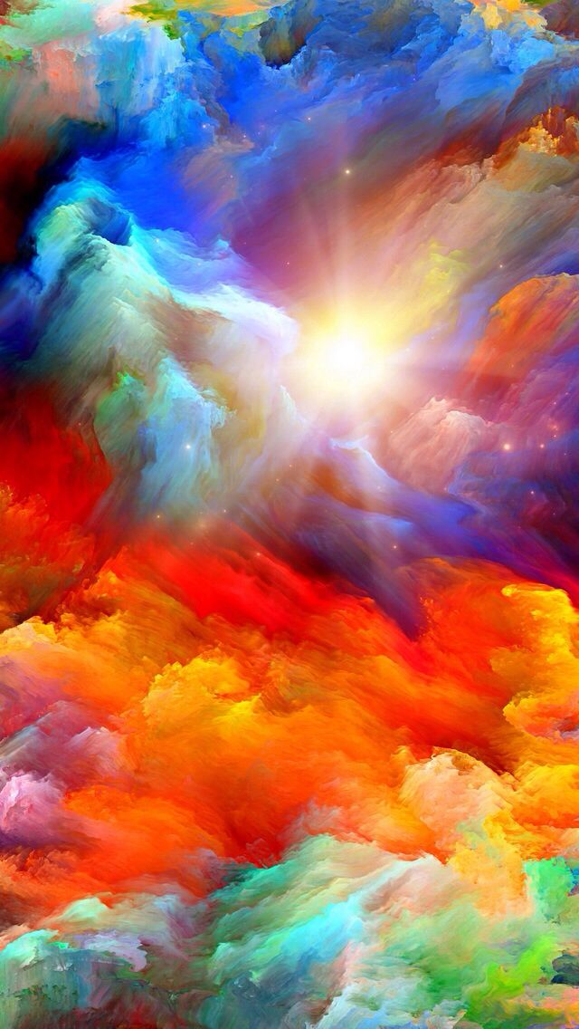 COLORFUL CLOUDS, IPHONE WALLPAPER BACKGROUND Pinturas a