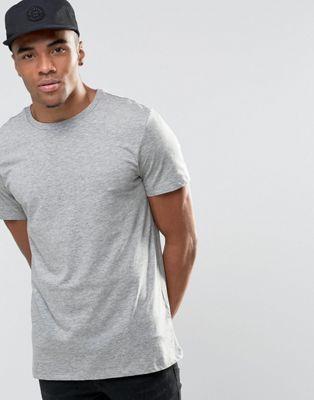 Серая меланжевая футболка с круглым вырезом New Look