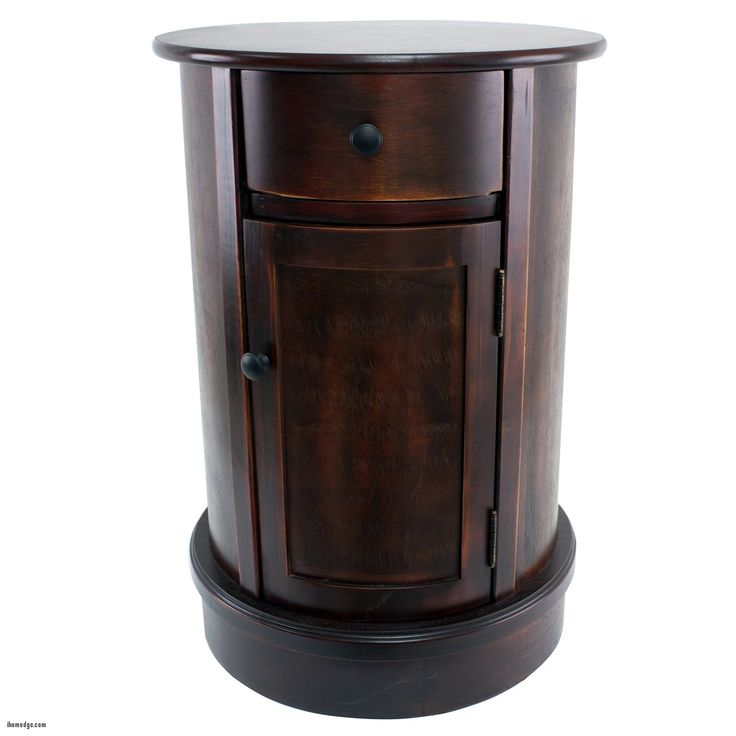 best Luxury Round End Table with Drawer , Decor Therapy FR Round Side Table with 1 Door and Drawer , http://ihomedge.com/round-end-table-with-drawer/21295