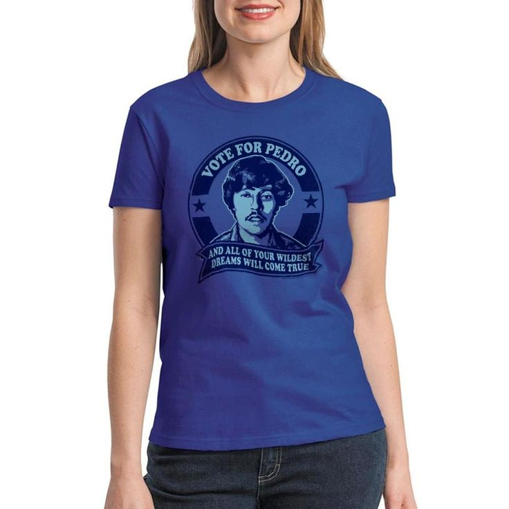 Napoleon Dynamite Wildest Dreams Women's Royal Blue Funny T-shirt. An amazing T-Shirt from the movie of the North Dakota Dancing master, what are you waiting to get this New T Line Graphic Tee? Royal Blue Crew Neck Short Sleeve Napoleon Dynamite Movies & TV Wildest Dreams design on the front and material that guarantees 100% comfort.