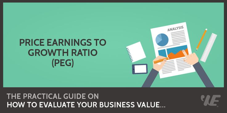 Price Earnings to Growth Ratio (PEG)  Click to read the full article on website: https://wealthyeducation.com/peg-ratio/  #investing #‎stockmarket‬ ‪#‎makemoney