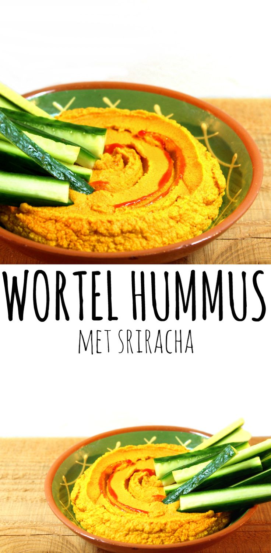 Wortel hummus met sriracha