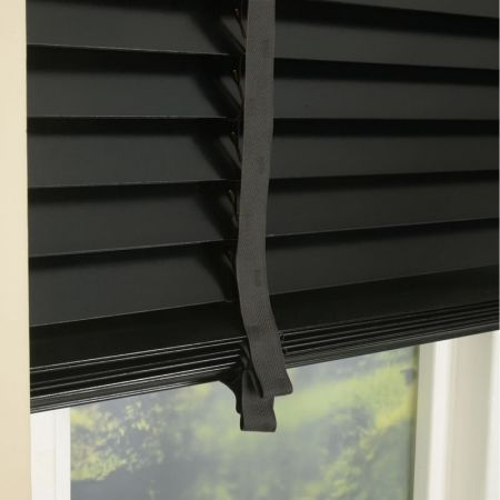 50mm primary wood venetian blinds with tapes noir