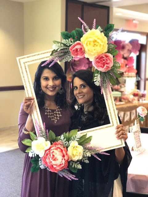 Floral Frame Photo Booth Diy First Birthday Garden Party