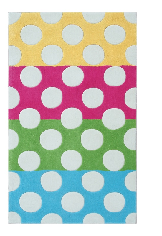 Colorful Polka Dot Rug For A Childu0027s