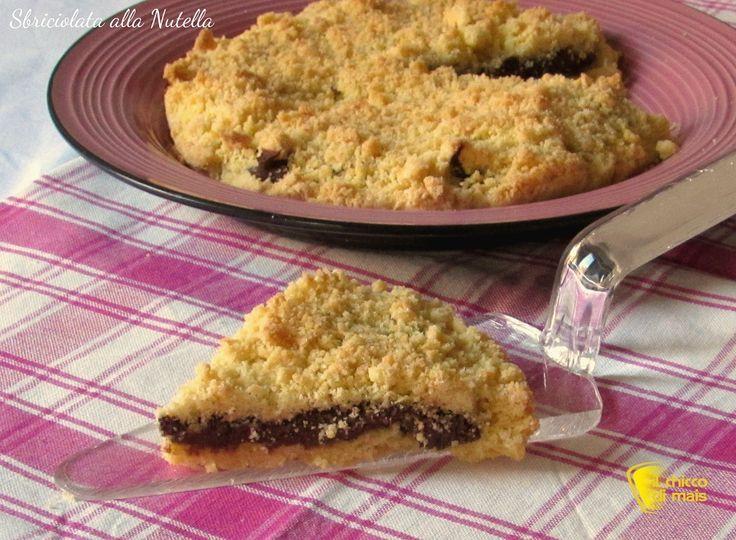 Torta sbriciolata alla nutella, ricetta veloce. Preparare la sbrisolona o crostata sbriciolata alla nutella facile e veloce anche con farine senza glutine
