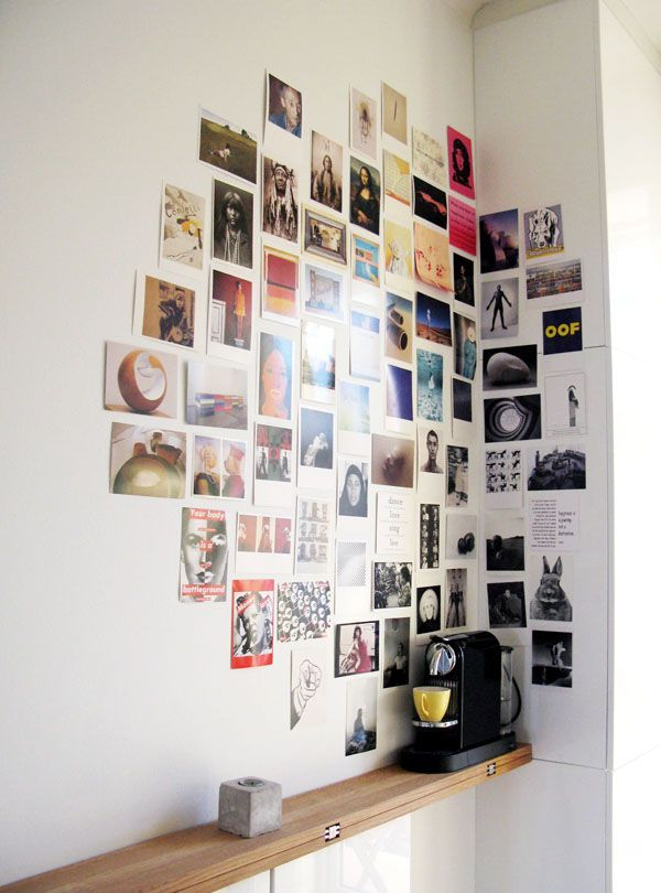 17 More DIY wall Art Ideas: Use photos or postcards!