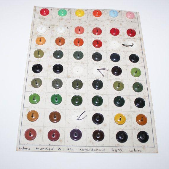 Antique 1920s Bakelite Button Factory Sample by RiverRatAntiques