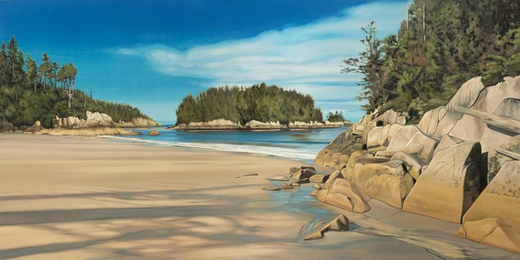 """Windless"". Oil on Birch. 2014. 48""x24"". Collin Elder. www.collinelder.com"