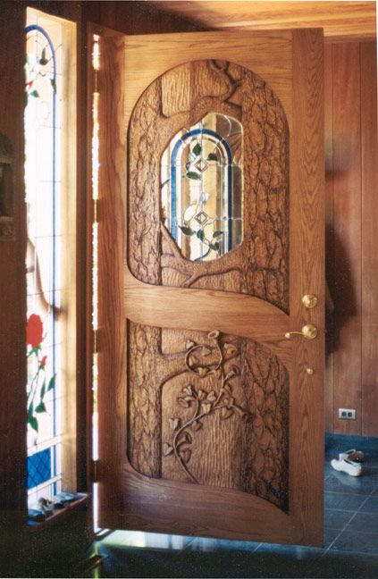 Inside View Of Ron Ramsey S Carved Hummingbird Door Also