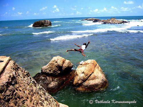 #Cliff Diving, Dutch Fort, #Galle, Sri Lanka #SriLanka