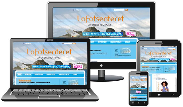 We just finished making a website for mobile responsive to an old customer. Click through the www.lofotsenteret.no on your tablet or mobile phone to take a look