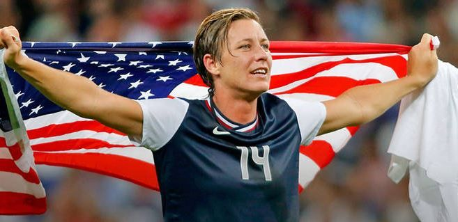 Abby Wambach  Top 10 Best Female Soccer Players of all time  http://www.sportyghost.com/top-10-best-female-soccer-players-all-time/
