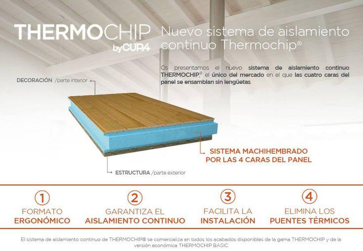 Sistema de Aislamiento Continuo Machihembrado del panel sándwich THERMOCHIP® | Thermochip | #panel #madera #aislamiento #techo #design #arquitectura