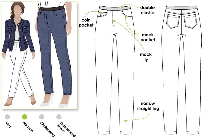 StyleArc  Misty Stretch Pull-on Jean sewing pattern