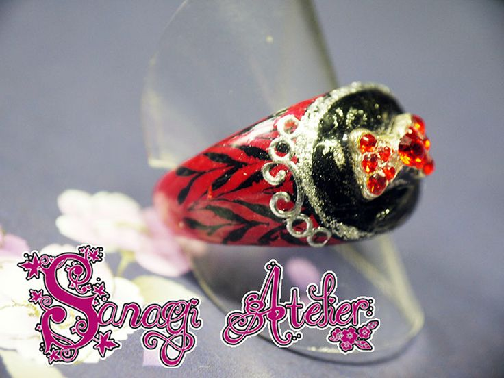Ring Art decorated like Nail Art