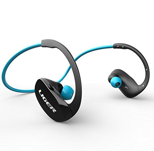Bluetooth Headphones, Liger XS900 Wireless Bluetooth 4.0 Headphones with Noise Cancelling and Mic - Great for Sports, Running, Gym, Exercise -Wireless Bluetooth Earbuds Headset Earphones - Blue #carscampus