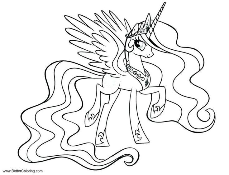 Free MLP Alicorn Coloring Pages Twilight Sparkle Printable ...
