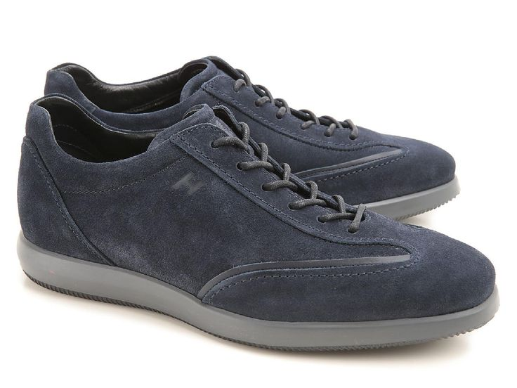 Hogan men's lace-ups shoes in blue suede leather - Italian Boutique €209