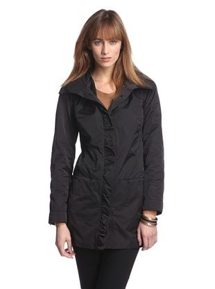 83% OFF Rainforest Outerwear Women's Packable A-Line Coat (Black)
