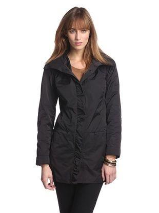 83% OFF Rainforest Outerwear Women's Packable A-Line Coat (Black)