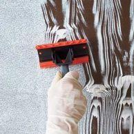 "Create the ""Planks"" - paint plywood floor in camper. Be easier than installing flooring."