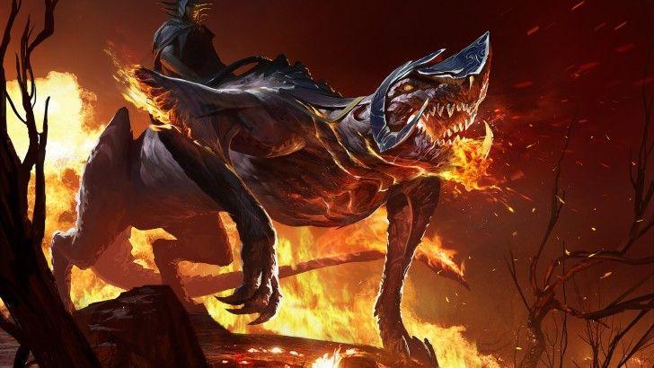 Caballero En Monstruo Fuego - Fondos de pantalla HD. Fondos de escritorio. Protectores de pantalla. Wallpapers HD. Fondos de pantalla.