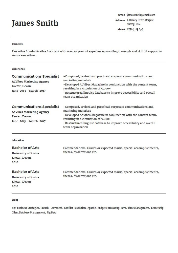 A By Ahmed Resume Templates Resume Best Resume Template