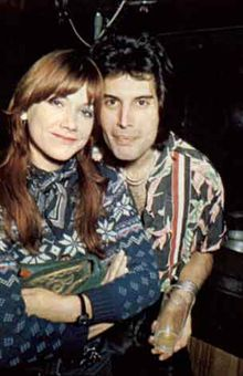 Young Freddie Mercury & Mary Austin  ~~ Blogspot Scarlett's Gone With The Coupons