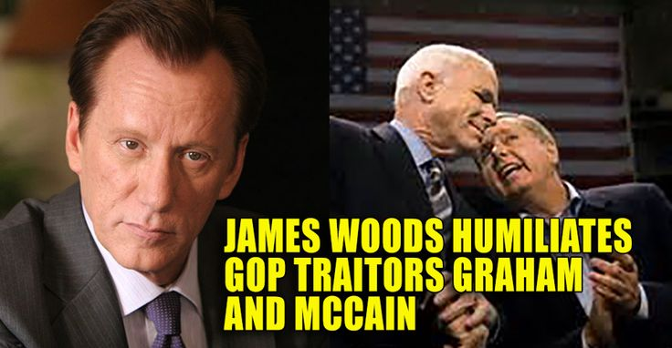Conservative movie star James Woods is at it again on Twitter and is once again educating and entertaining with his patriotic and no nonsense posts about Liberals and warped career politicians. James Woods pointed out the obvious with great sarcastic flare – which is kind of his specialty. Lindsey Graham and John McCain's rush to embrace Barack Obama's faux angst at Russia with a pointless slap on the wrist makes them appear far more like Democrats than the Republicans they supposedly are…