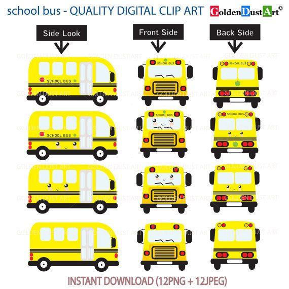 20% OFF School Bus Clipart, School Bus Clip Art, Kawaii School Bus, Kawaii Clip Art, Transport Clip Art