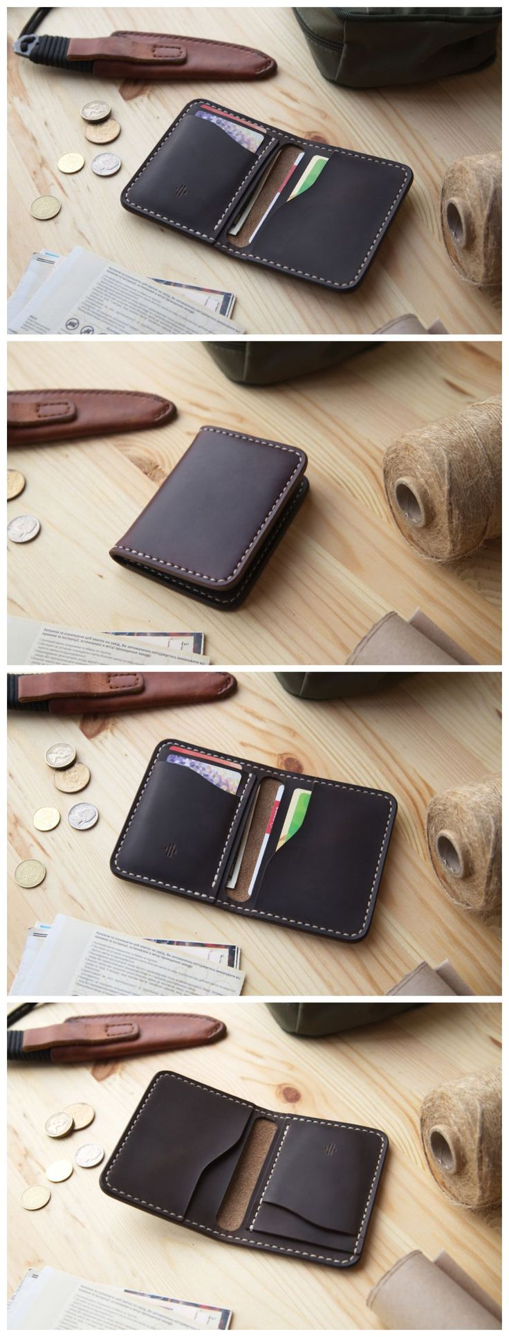 Horween Mens Wallet, Mens Leather Wallet, Minimal Leather Wallet, Leather wallet with 5 Pockets, Men's Leather Bifold Wallet  #manufacturabrand#accessories #wallet#leather#handmade#leathergoods#everydaycary#vegtanleather#handcraft#handstitched#leathercraft #vegtan#bifoldwallet#bifold#cardholder #cardwallet#horween#horweenwallet#chromexcel