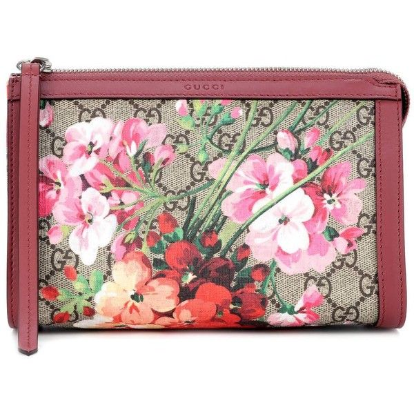 Gucci GG Blooms Cosmetic Case (€385) ❤ liked on Polyvore featuring beauty products, beauty accessories, bags & cases, pink, makeup bag case, dop kit, travel kit, gucci makeup bag and make up purse