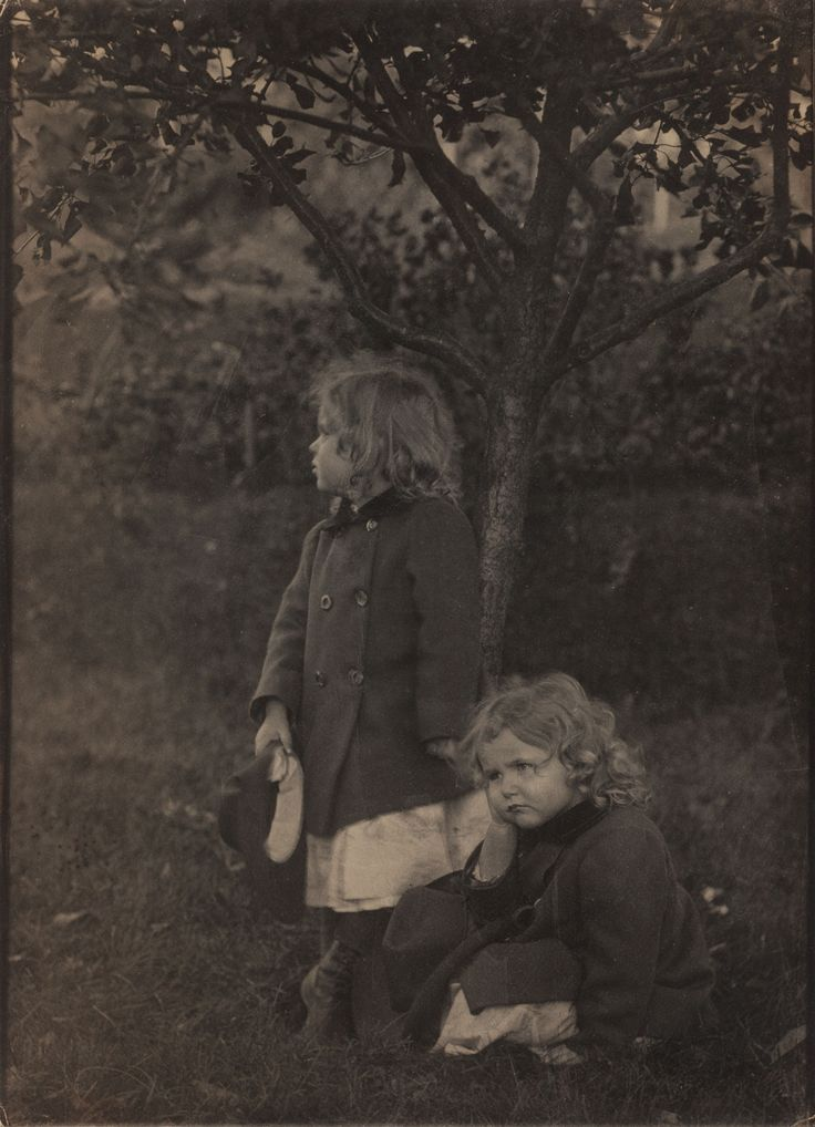 Untitled (Two Little Girls in the Garden), ca 1905, Eva Watson-Schutze. American (1867 - 1935)