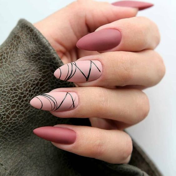 "A new trend in manicure: TOP-15 options for the ""spider line"" in nail design – Nails"