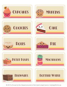 Free Bake Sale Printbles.  Includes Flyers, food labels, pricing, etc.