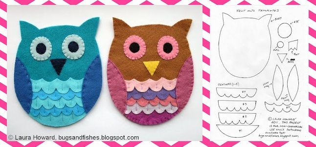 Large Owl Template | Valentine's Day Bulletin Board Idea and Owl Craft for Kids