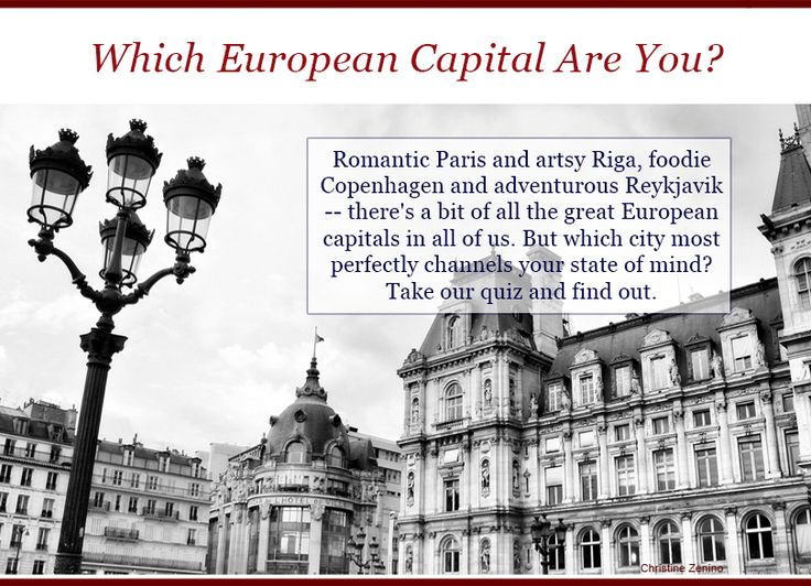 Which Capital City are you??