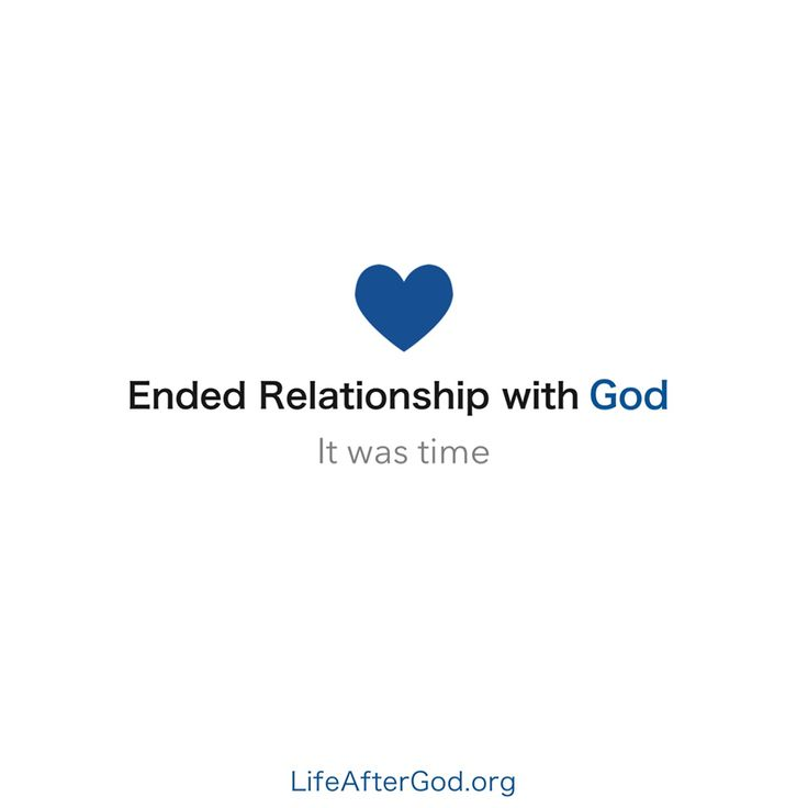 """For many, """"ended relationship with God"""" is a difficult status update to share. Often it's more about how """"mutual friends"""" are impacted by the news than it is about creating a meaningful life after God.  Life After God exists to help navigate the challenges around updating your theological relationship status.  When did you update your status?"""