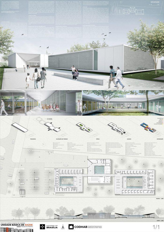 Veja a seguir os projetos premiados e menções doConcurso Público Nacional de Arquitetura para a Unidade Básica de Saúde(UBS)a ser construída noRiacho Fundo II, Distrito Federal.