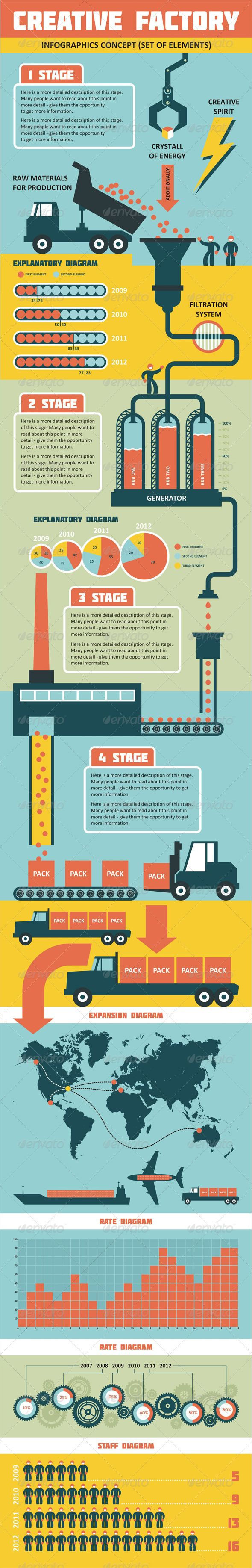 Infographics - Creative Factory - GraphicRiver Item for Sale