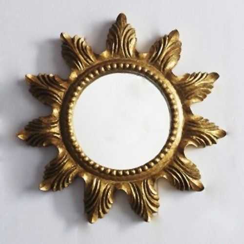vintage style antique gold sunburst mirror 403cm by beaumonde http