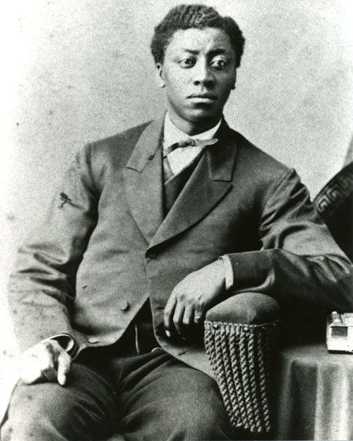 "A photo of a young Frederick Douglass. The perfect image for today because I always remember, celebrate and re-read his landmark speech ""What to the Slave is the 4th of July"" every Independence Day. Click through and visit the blog to read the entire speech for yourself and see actors reading and re-enacting the speech as well."