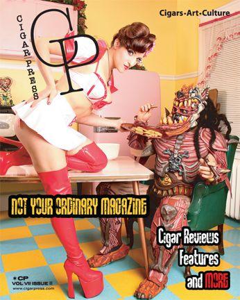 Cigar Press Magazine  cigar magazine cover
