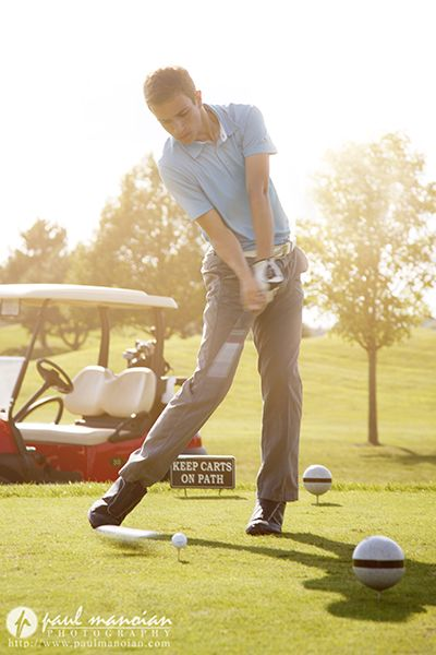 Golf Senior Pictures for Guys