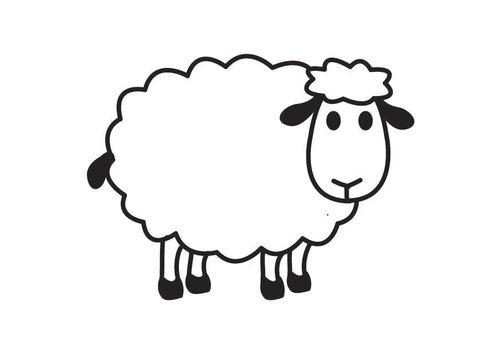 Kleurplaat schaap: scheren met scheerschuim