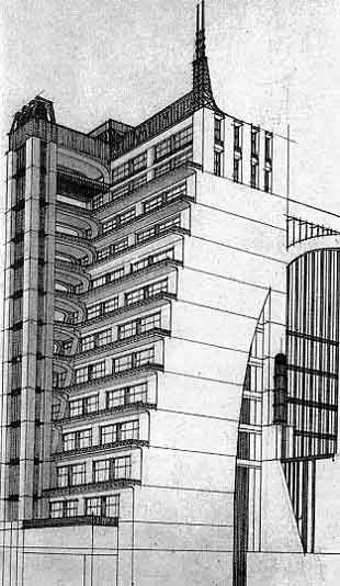 antonio sant'elia drawings | perspective drawing by sant elia 1914 photo 2 perspective drawing ...