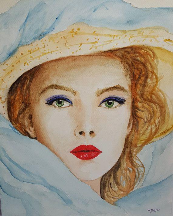 Watercolour Original Painting Hand Painted Watercolour Art